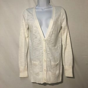 MOSSIMO SUPPLY CO. WHITE BUTTON DOWN CARDIGAN